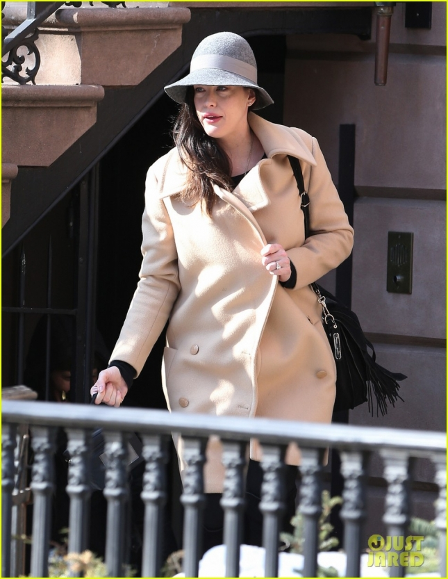 FIRST PICTURES - Liv Tyler is pictured for the first time after giving birth to her second son