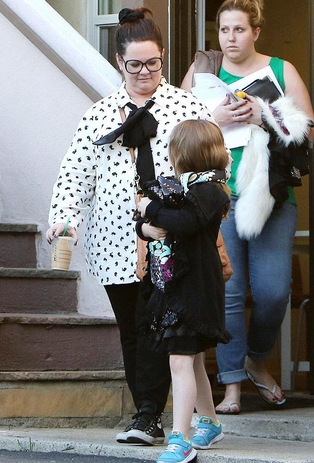 Мелисса Маккарти с дочкой