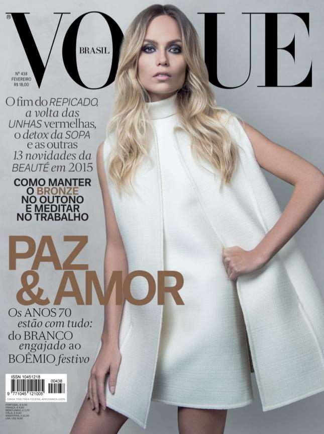 Наташа Поли на обложке Vogue Бразилия
