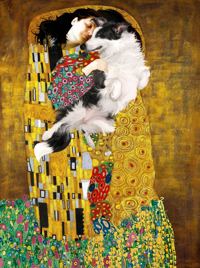 Обнимашки. Репродукция с картины Густава Климта