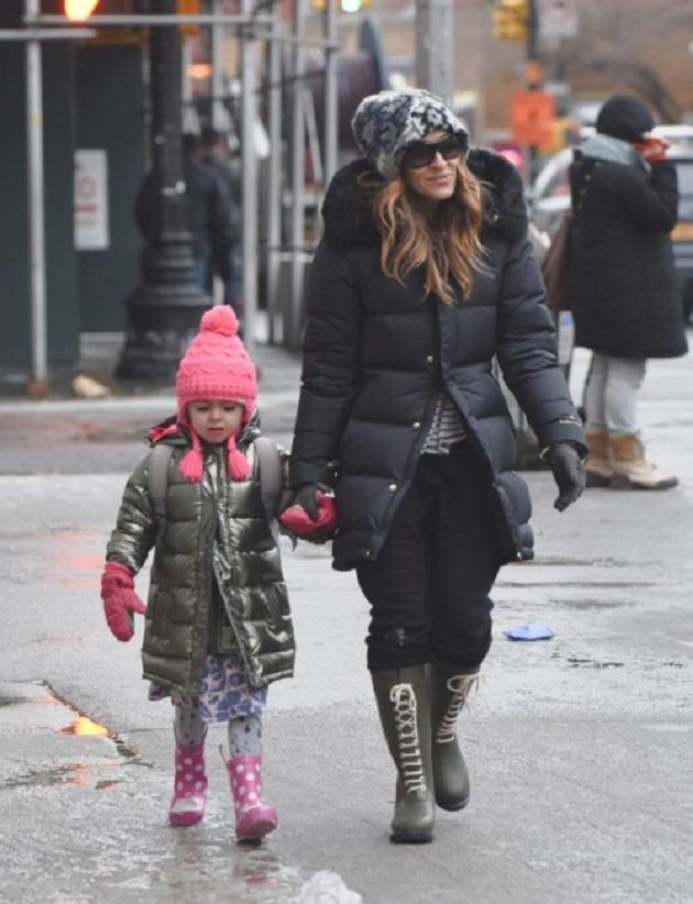 Сара Джессика Паркер  с дочкой