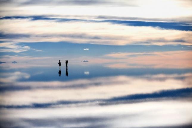 Салар де Уюни - соленое озеро в Боливии