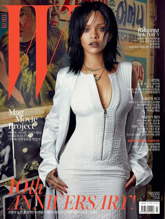 Рианна на обложке W magazine Корея, март 2015