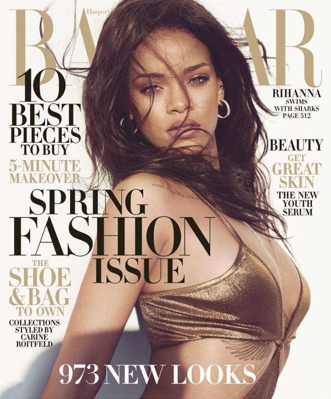 Рианна на обложке Harper's Bazaar США, март 2015