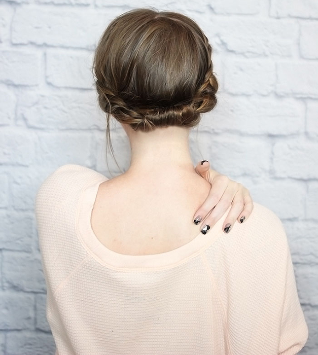 rolled-braid-updo-short-hair