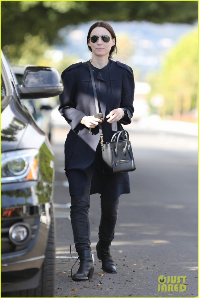 *EXCLUSIVE* Rooney Mara carries her Celine Handbag