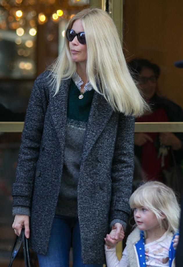 Клаудиа Шиффер с дочкой