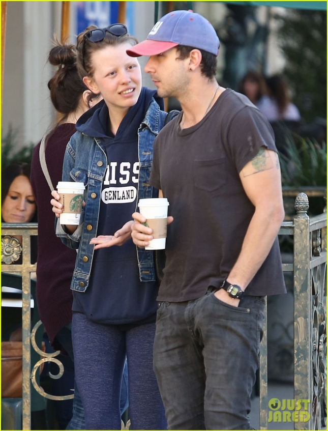 Exclusive... Shia LaBeouf & Mia Goth Stop For A Coffee At Starbucks