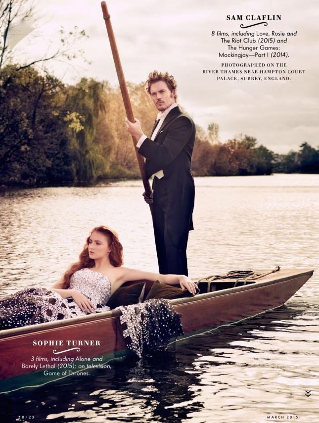 Софи Тернер и Сэм Клафин для Vanity Fair США, март 2015
