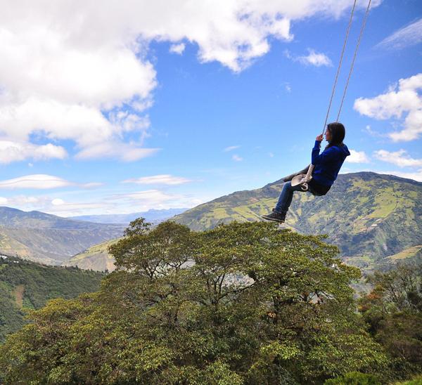 Качели на краю света в Эквадоре