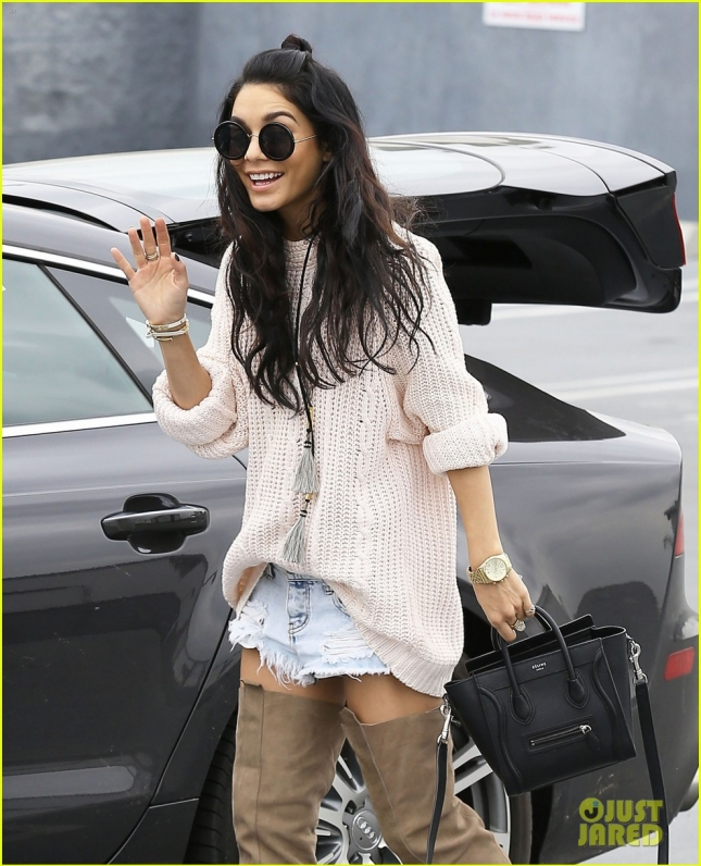 Exclusive... Vanessa Hudgens Loads Up Her Ride In West Hollywood