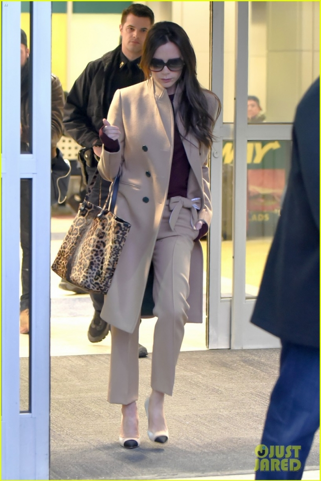 Виктория Бекхэм в аэропорту Джона Кеннеди