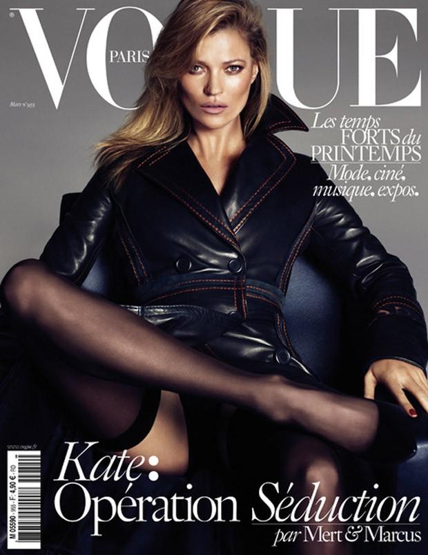Кейт Мосс на обложке Vogue Париж, март 2015