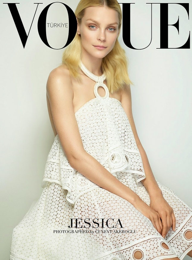 Джессика Стэм на обложке Vogue Turkey, март 2015