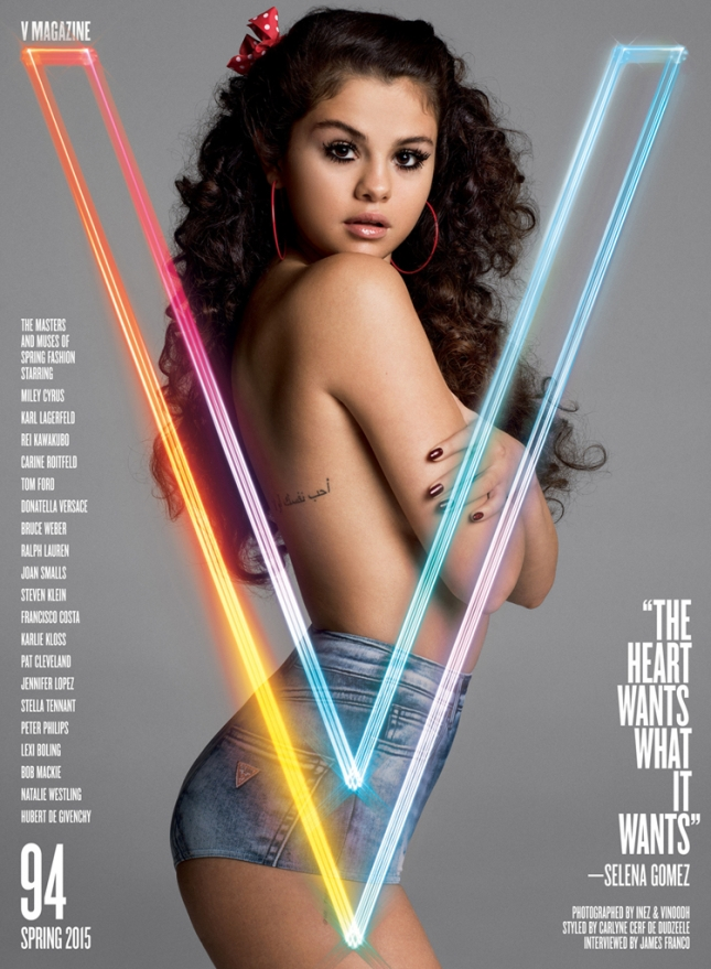 Селена Гомес на обложке V Magazine
