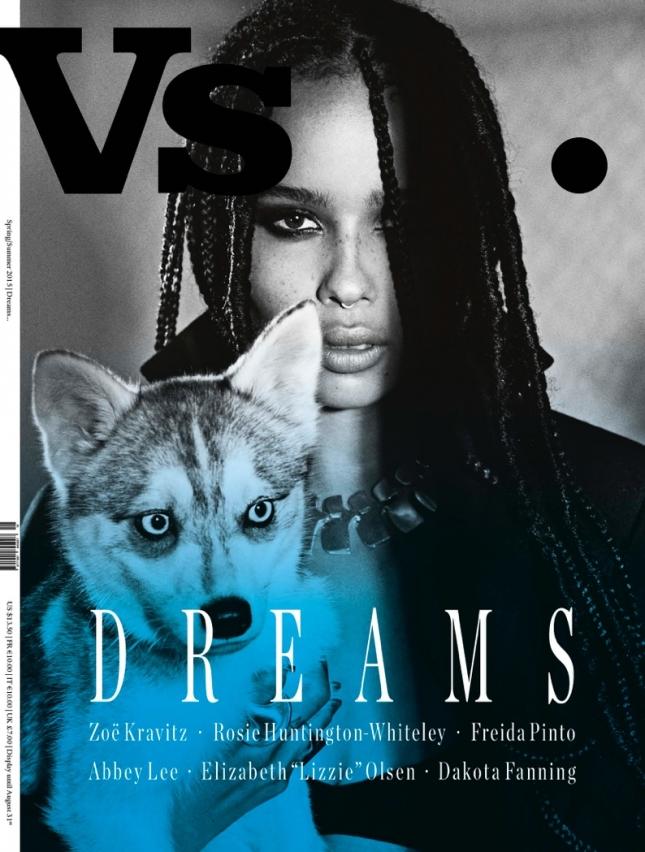 Зои Кравиц на обложке VS. Magazine