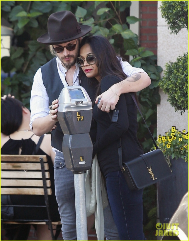 Zoe Saldana & Marco Perego Lunch In Los Angeles