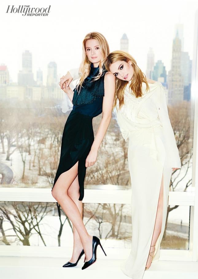 Лили Джеймс и ее стилист для специального выпуска The Hollywood Reporter 25 Most Powerful Stylists