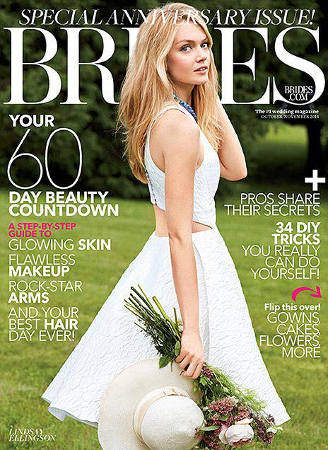 Линдсей Эллингсон на обложке Brides, ноябрь 2014
