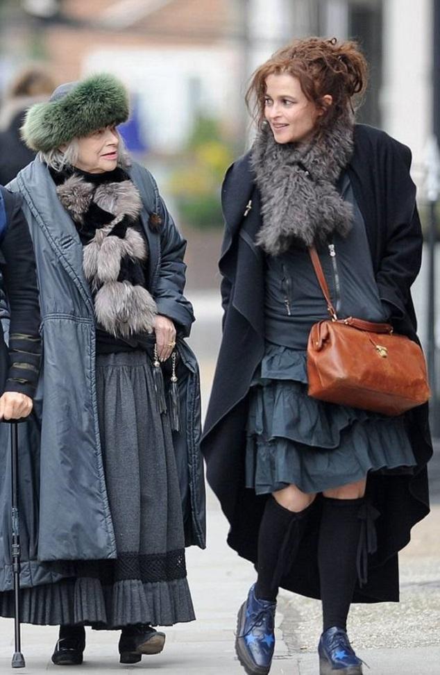 Хелена Бонем Картер с мамой