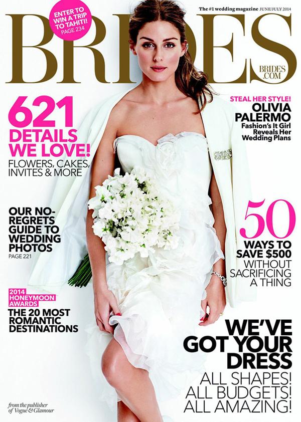 Оливия Палермо на обложке Brides, июнь-июль 2014