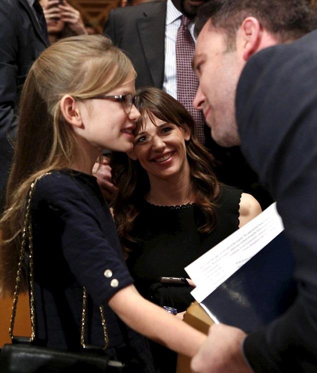 Бен Аффлек и Дженнифер Гарнер с дочкой