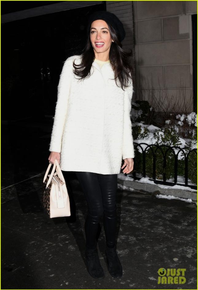 Амаль Клуни в Нью-Йорке