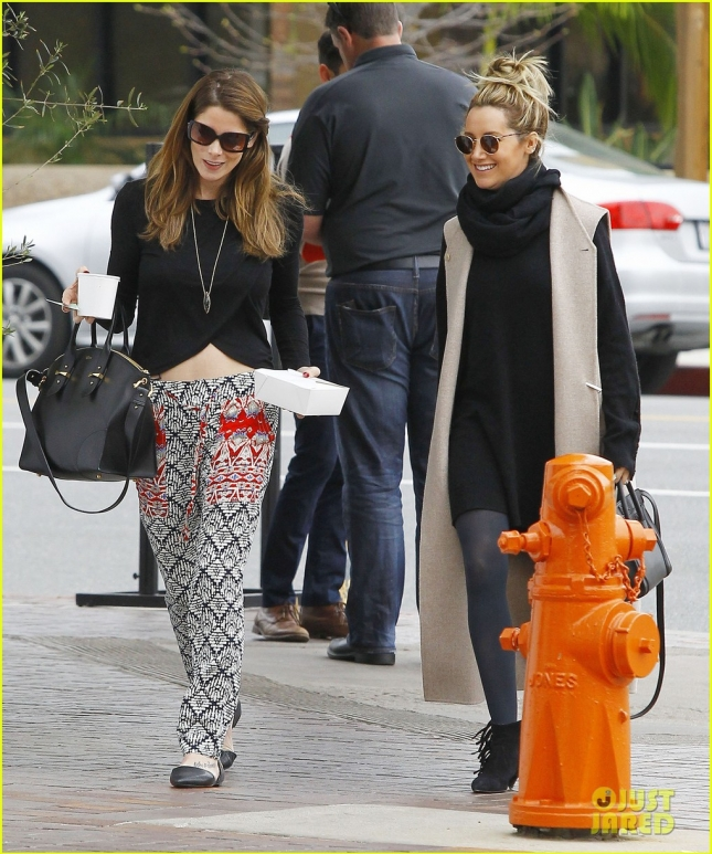 Exclusive... Ashley Tisdale & Ashley Greene Meet For Lunch
