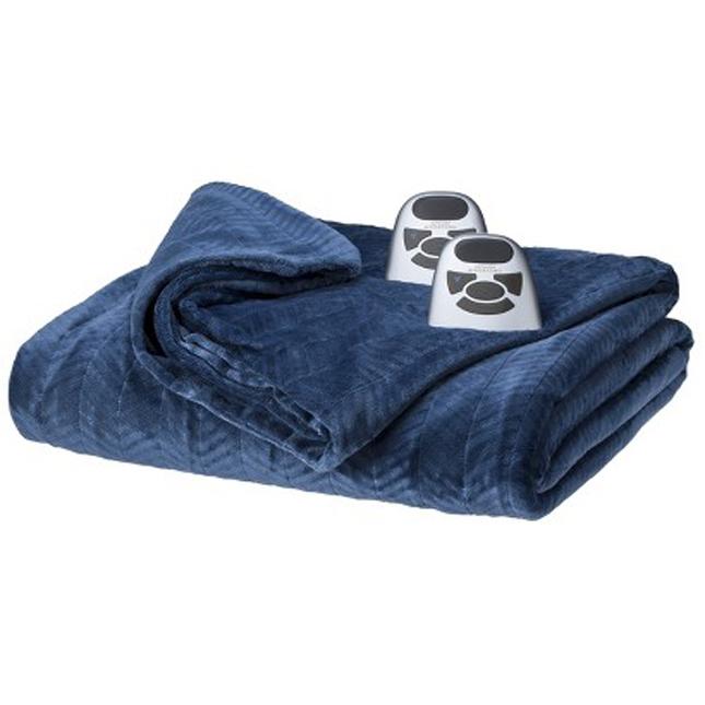 Biddeford-Heated-Chevron-Velour-Electric-Blanket
