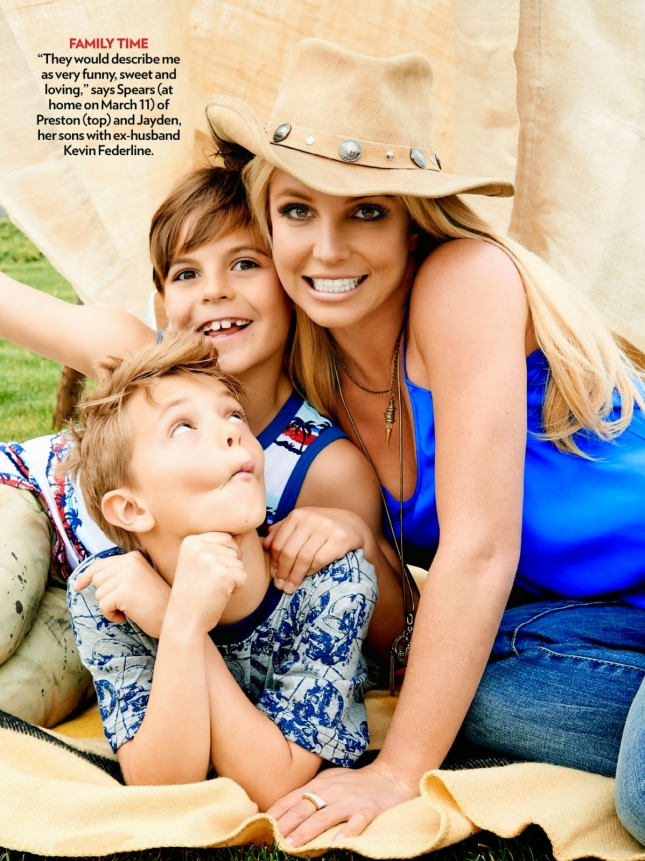 Бритни Спирс с сыновьями  в фотосессии для People