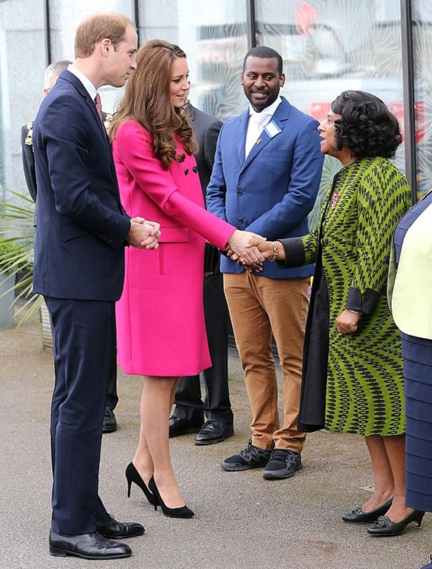 Принц Уилльям, герцогиня Кэтрин и Дорин Лоуренс