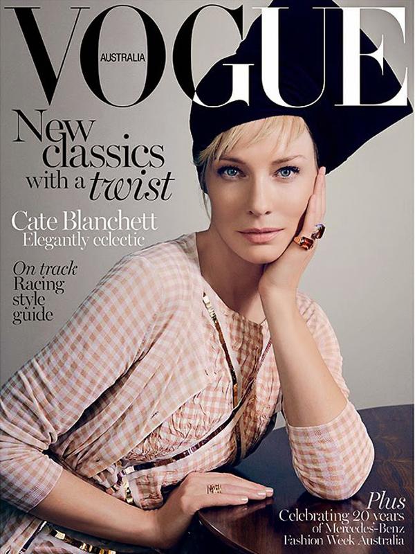 Кейт Бланшетт на обложке Vogue Австралия, апрель 2015