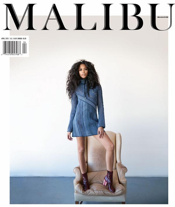 Шанель Иман на обложке Malibu Magazine