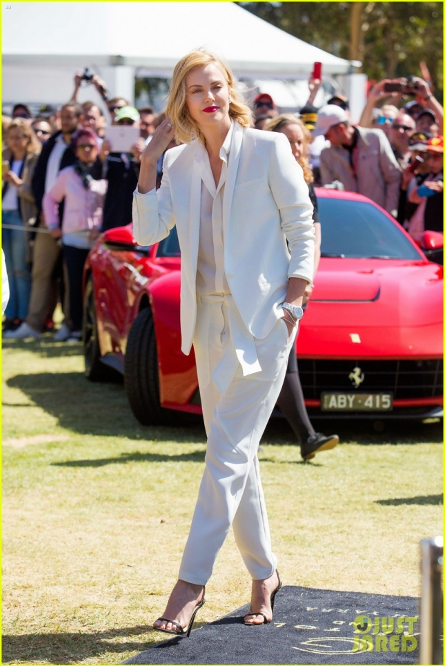 Charlize Theron at the Formula One Grand Prix **USA and Canada ONLY**