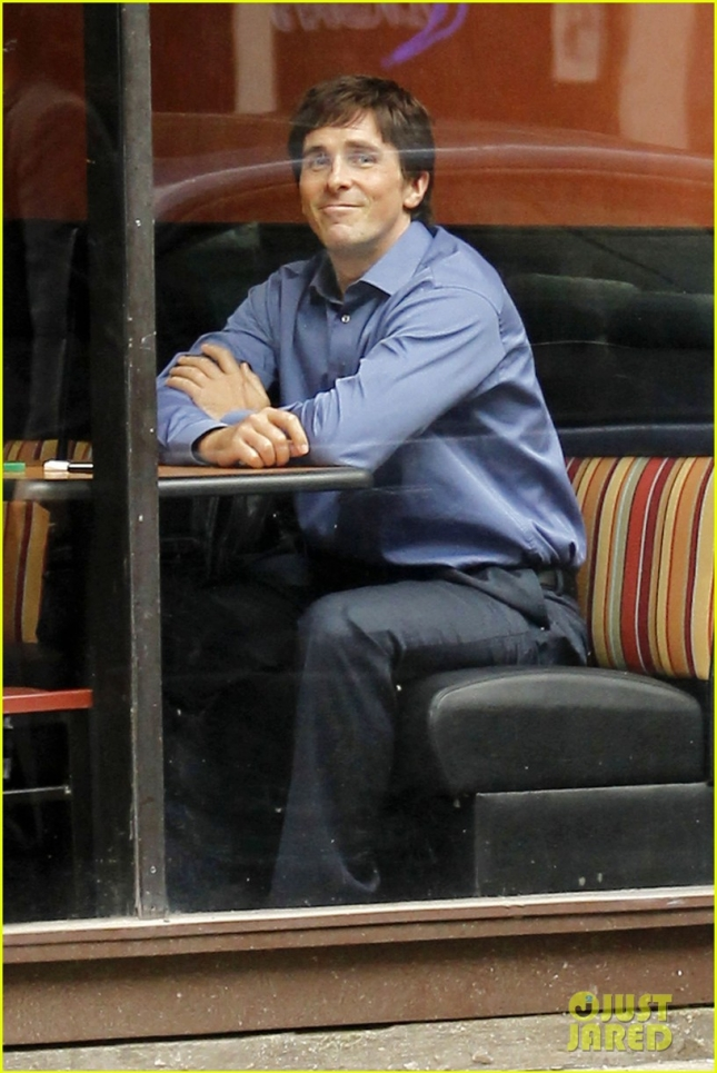 FIRST ON SET PHOTOS: Christian Bale is seen on the set of his new movie 'The Big Short' in New Orleans