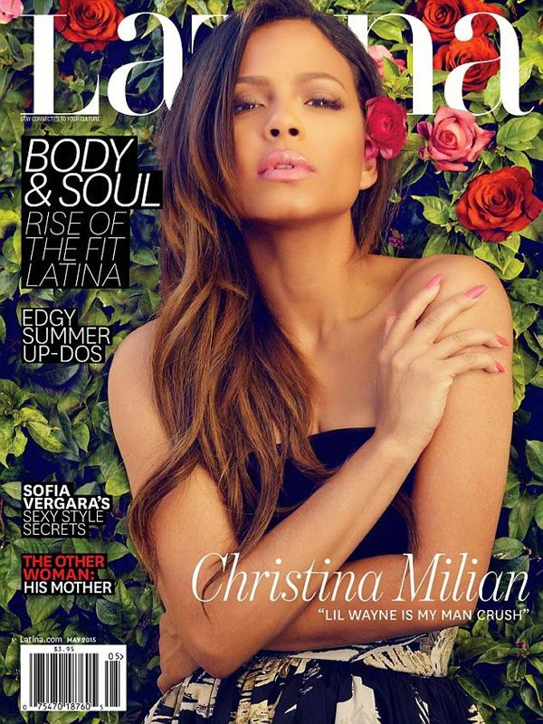 Кристина Милиан на обложке Latina,  май 2015