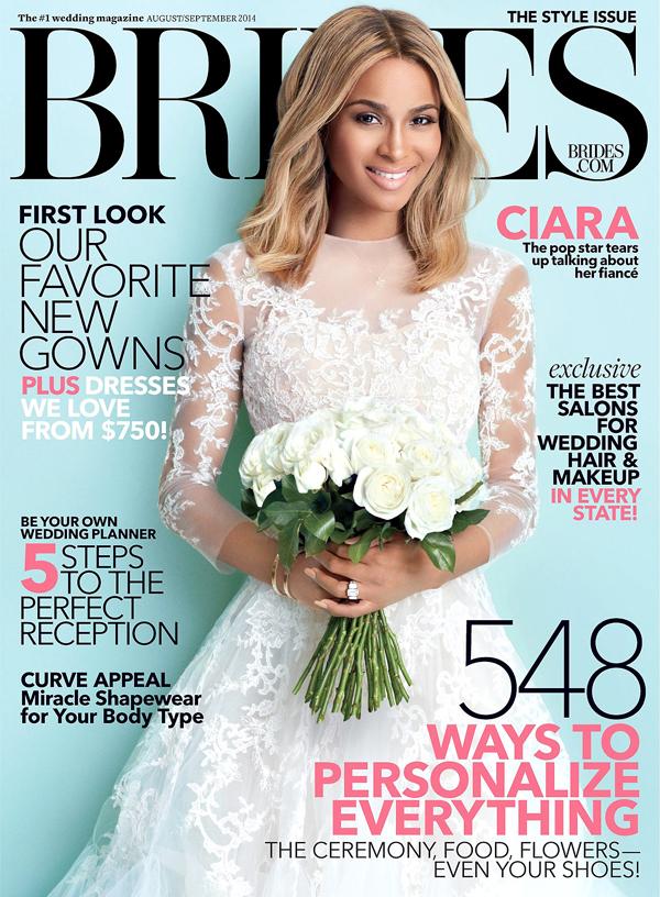 Сиара на обложке Brides