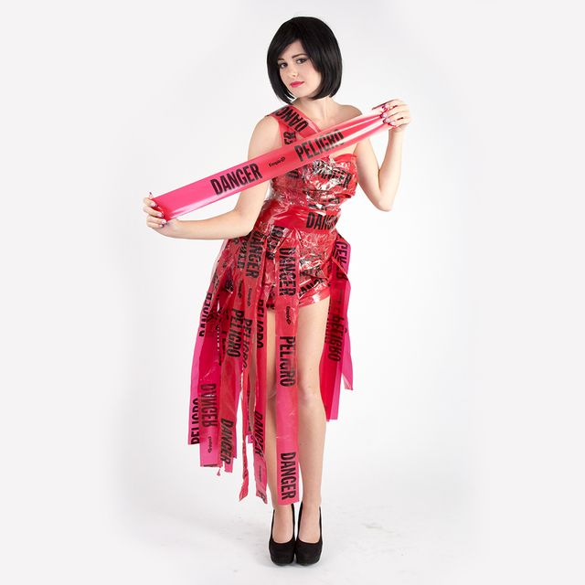 dangertapedress