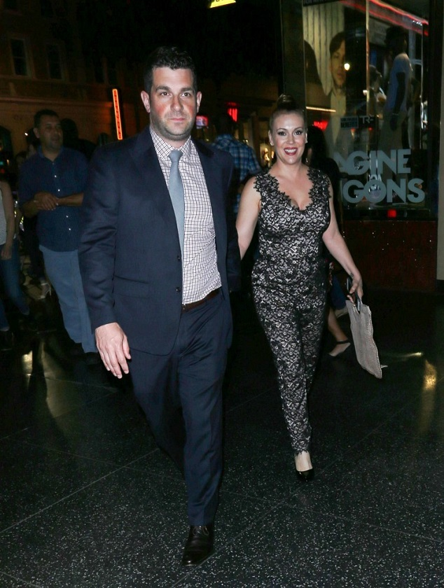 Алисса Милано с мужем Дейвом Баглиари