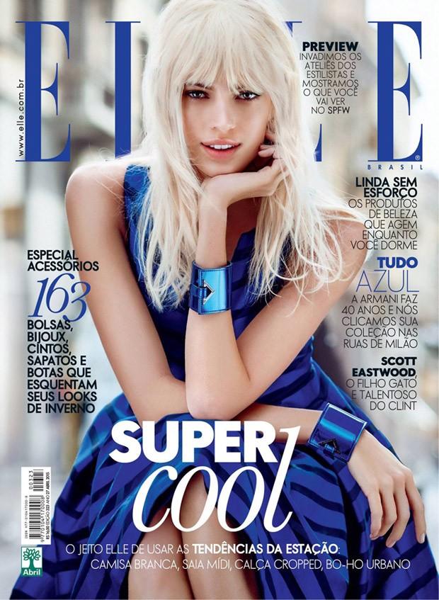 Девон Виндзор на обложке Elle Бразилия, апрель 2015