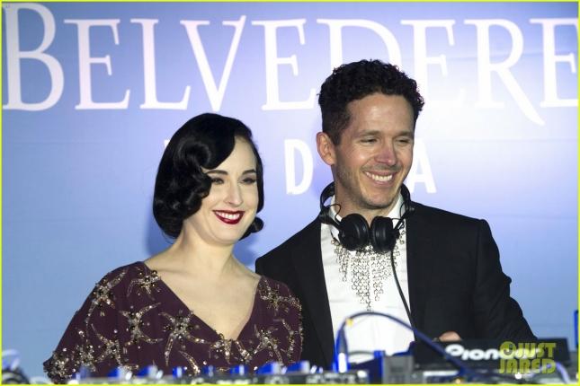 Дита фон Тиз на вечеринке, устроенной брендом Belvedere Vodka в Мадриде (Испания)