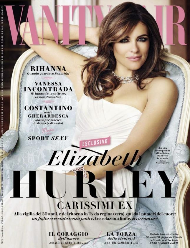 Элизабет Херли на обложке Vanity Fair Италия, апрель 2015