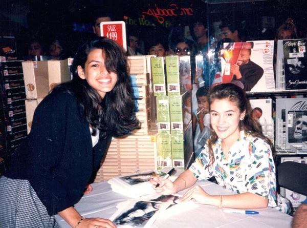 Ева Мендес и Алисса Милано...  лет 25 назад