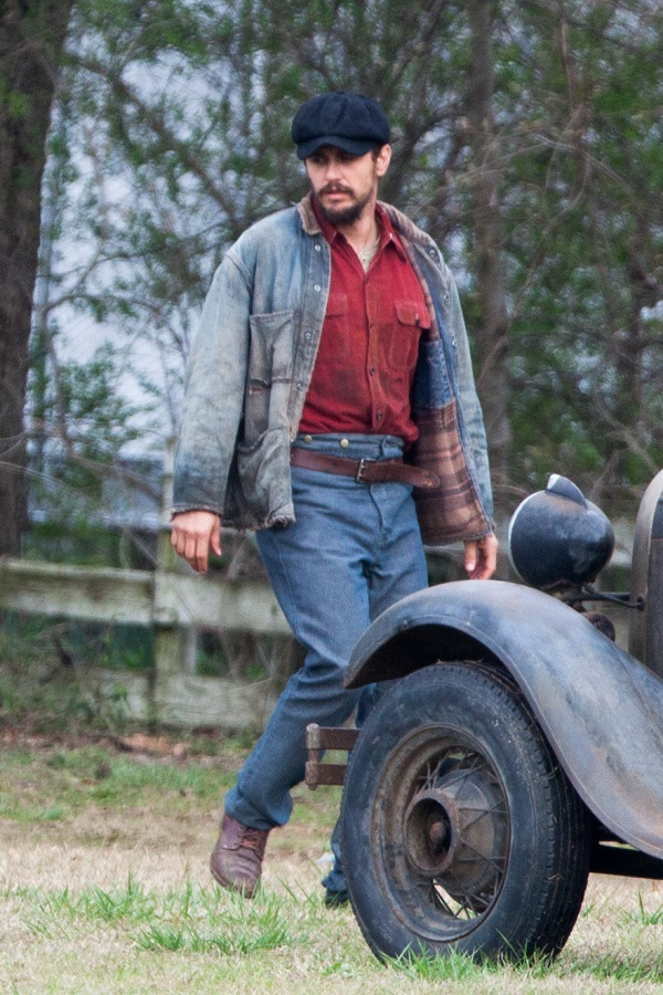 EXCLUSIVE: James Franco and Nat Wolff on set of film 'In Dubious Battle'