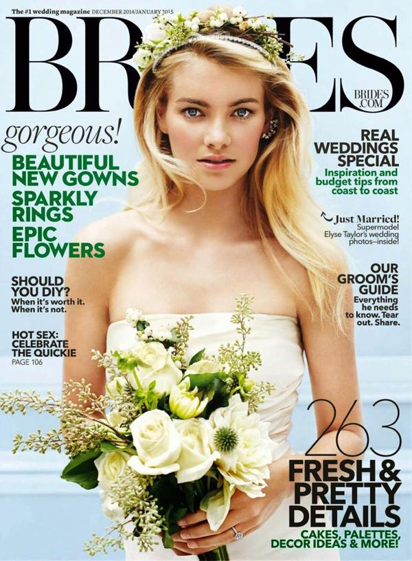 Элис Тейлор на обложке Brides, декабрь 2014