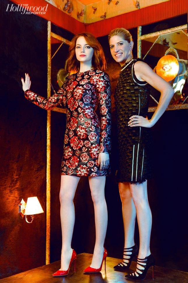 Эмма Стоун и ее стилист для специального выпуска The Hollywood Reporter 25 Most Powerful Stylists