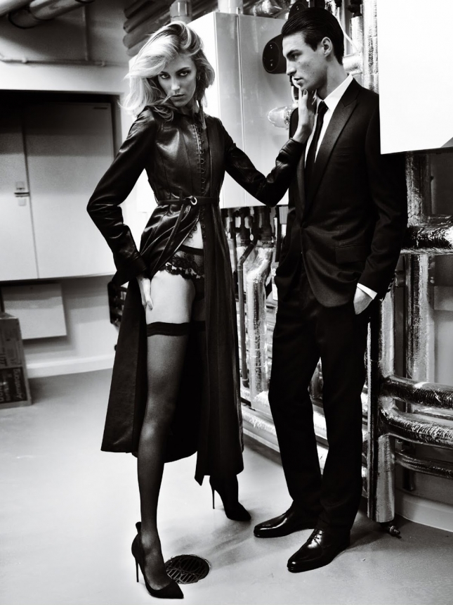 Аня Рубик  и Николай Даниэльсен для Vogue Париж, апрель 2015