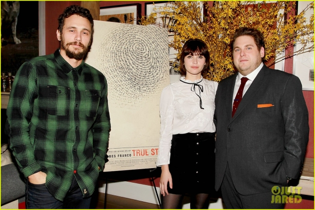 "Jonah Hill,James Franco and Felicity Jones attend a ""True Story"" Press Event"