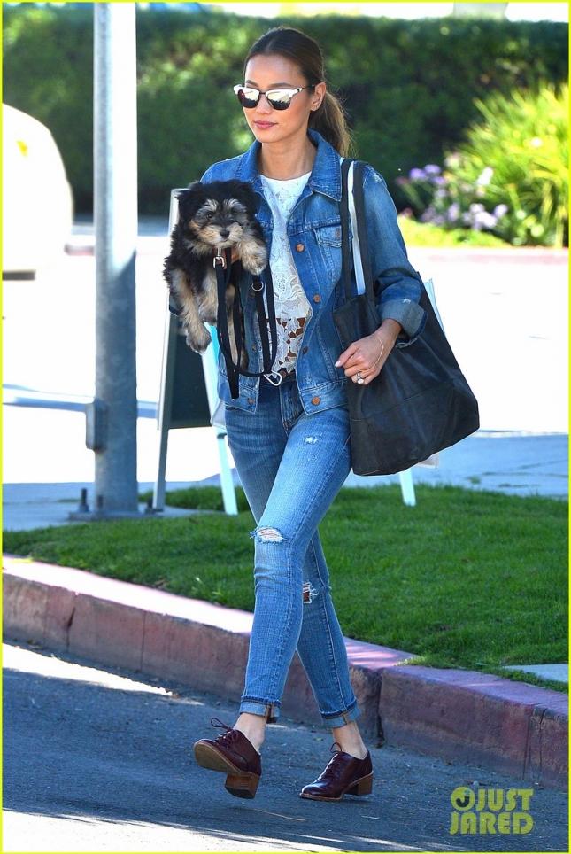 Джейми Чунг и её питомец идут к ветеринару