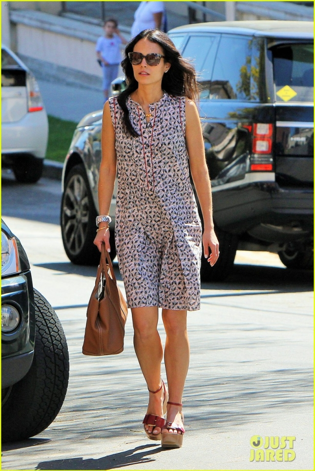 Jordana Brewster enjoys the L.A. sunshine in a floral sundress